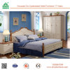 Classic Vintage Style Solid Wood Double Bed Designs Pure Walnut Wood Bed Legs