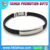 Personalized Silicone Bracelet with Medical Sign on Stainless Steel Buckle Plate