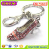 High Quality! Solid Colorful Rhinestone Mini Shoe Keychain #14930