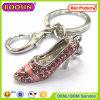 High Quality! Solid Colorful Rhinestone Mini Shoe Keychain #14930
