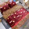 High Quality Leopard Printing Flannel Fleece Bedding Set