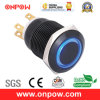 Onpow 19mm Metal Pushbutton Switch (LAS1GQ-11E/B/12V/A, CE, CCC, RoHS Compliant)