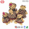 Noble Floral Dressing Cute Brown Plush Teddy Bear Soft Toy
