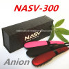 2016 New Arrive Anion Fast Hair Straightener Nasv Hair Straight Brush Anti-Scald Static Hair Straightener Brush with LCD Display