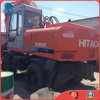 Japan-Make 0.6cbm/16ton Used 6cylinders Isuzu-Engine Hydraulic-Pump Hitachi Ex160wd Tire Excavator