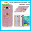 Glitter Powder Paper Clear TPU Ring Buckles Case for Samsung