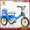 Blue Red with Colorful Rim Air Tire 2 Seats Baby Tricycle