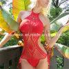 Red Hand Crochet Monokini Swimsuit One Piece Swimwear Beachwear Bikini