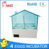 Hhd Latest Automatic Egg Incubator for Sale 4 Eggs Yz9-4