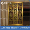 Customized Best Quality Stainless Steel Golden Laser Cut Room Divider