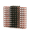 110 Bottle Classic Traditional Metal and Wood Wine Cellar Rack