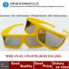Big Eye Stylish Plastic Linear Polarized 3D Glasses for Linear Polarized System