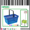 Supermarket Plastic Carry Shopping Basket Hand Held with Logo
