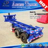 Two Axles Frame Type 20ft Container Skeleton Tipping Semi Trailer