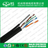 Cat5e Outdoor UV Rated Bulk Cable with Messenger 1000FT Black