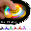 New Funny LED Light Hand Finger Spinner Plastic EDC Hand Spinner for Autism and Adhd Relief Focus Anxiety Stress Gift Toys