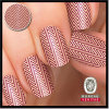 a Seemingly Textured Herringbone Pattern Real Nail Polish Nail Art