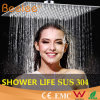 "16"" 2mm Square Ultra Thin Rain Ceiling SUS304 Shower Head"