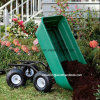Poly Garden Dump Cart with Steel Frame and 600-Pound Capacity