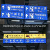 Double Side Hanging Display Sign Framless LED Fabric Light Box for Direction Board