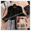 Fashion Fake Mink Hair Women's Leather Fur Coat Winter Outwear