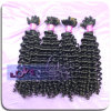 Hand Tied Virgin Brazilian Kinky Curly Human Hair Weave