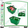 Green Plastic Shopping Baskets for Chain Store
