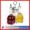 4pc Set Glass Oil Vinegar Spice Jar With Wire Rack