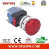 Onpow 30mm B Type Mushroom Switch (LAS0-K30-11MB/R, CE, CCC, RoHS)