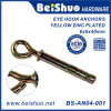 Galvanized Carbon Steel Sleeve Anchor with Hook / Eye Bolt/O/C Type