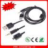3.5mm Car Aux Audio + USB 2.0 Charging Cable