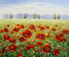 Modern Red Flower Sea Landscape Paintings (LH-356000)