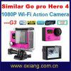 Dual 2 Screeen Similar Go PRO Hero 4 Ultraslim 30 Meters Waterproof Digital Action Sport Camera (OX-G3)