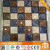 Chessboard Golden Color Glossy Wall Glass Mosaic (G848015)