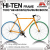 Many Size 700c Hi-Ten Fixed Gear Bic-460/480/500/520/540/550/560/5ke Bicycle for 700c-460/480/500/520/540/550/560/580/600/610mm (KB-700C10)