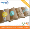 Customized Kraft Paper Pillow Packaging Paper Box with Sticker (QYCI15202)