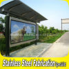 Customized Prefabricated Outdoor Street Power Coated Steel Bus Shelter
