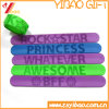 Factory Price Costom PVC Reflective Slap Wristband (YB-SM-016)