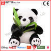 ASTM Stuffed Animal Soft Toy Plush Panda Hold Bamboo Leaves