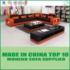 Modern Italian Leather Corner Sofa