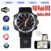 Buit-in 16GB HD 720p WiFi P2p IP Watch Camera Mini Hidden Watch Cam with LED