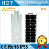 20watts Outdoor Garden Lamp Integrated LED Solar Street Light for India/Nigeria/Indonesia