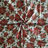 Christmas Golden Printed Cotton Fabric