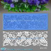 Grape Pattern Silicone Fondant Lace Mat for Countryside Style Cake