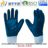 Cotton Jersey Shell Nitrile Coated Safety Work Gloves (N1615)