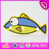 2014 New Fish Style Wooden Carton Hooks for Kids, Christmas Decorative Wood Hook, Hot Sale Wooden Cloth Hook for Baby W09b040