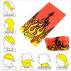 Promotional Custom Made Solid Red Double Side Printed Multifunctional Neck Warmer