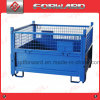 Folding Stackable Wire Mesh Container Metal Storage Cage