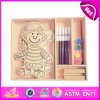 2014 New Kids Play Wooden Toy Painting, Popualr Wooden Children Toy Painting, Hot Selling Wooden DIY Toy Painting W03A067
