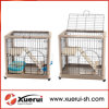 Folding Metal Pet Cat Cage, Cat Carrier with 2 Levels